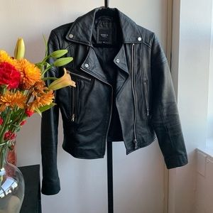 Barney's Leather Biker Jacket